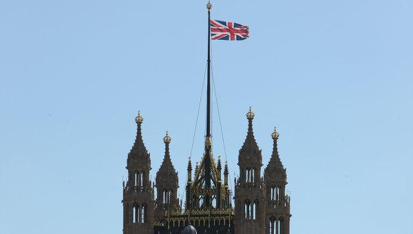 Вид на здание Парламента Великобритании