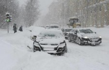 Москва снегопад