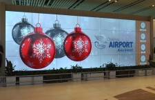 Вся жизнь аэропорта Кишинева - на гигантском информационном панно