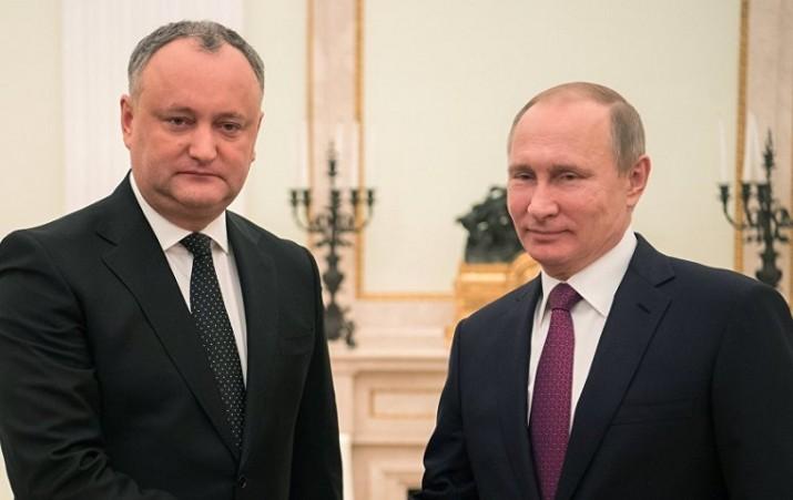 Путин Додон