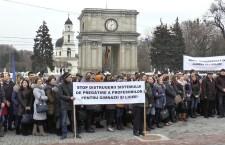 Студенты и преподаватели ВУЗов Молдовы пикетировали правительство
