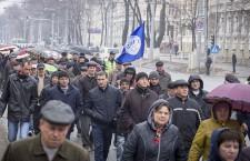 протест железнодорожников