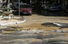 прорыв водопровода у примэрии Кишинева