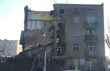 обрушение здания в Польше из-за утечки газа