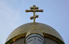 Церковь. Крест. Купол.